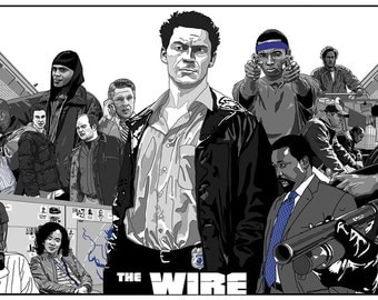 The Wire Poster (cult HBO TV show)