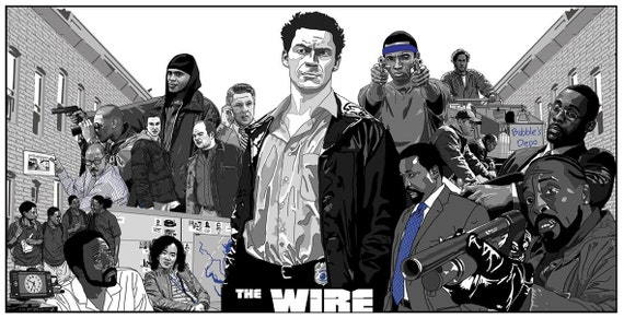 The Wire Poster Cult HBO TV Show