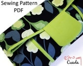 Clutch Bag Sewing Pattern PDF & Tutorial with Photos.fold over clutch.purse