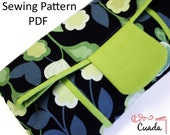 Clutch Bag PDF Sewing Pattern  & Tutorial with Photos, Foldover Clutch