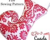 Christmas Stocking Pdf Sewing Pattern. Christmas Holiday ornament Pdf Sewing pattern .Full colour tutorial /instructions