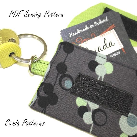Cardholder Wallet Pdf Easy Sewing Pattern & Tutorial, E Pattern, ebook