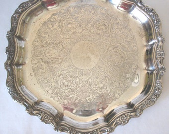 Silver Plated Tray 14 Inch Webster Wilcox International Silver