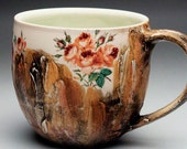 Coffee Mug with Victorian Roses