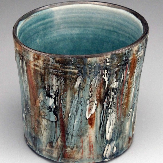Porcelain Whiskey Cup with White Gold Rim