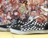 90s grunge checkered vans