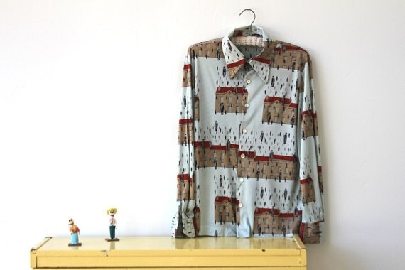 its raining men, retro novelty blouse