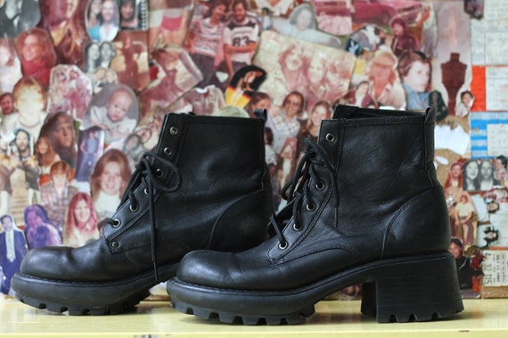 platform boots,90s grunge, ghost world US 8.5, CHUNKY GRIP