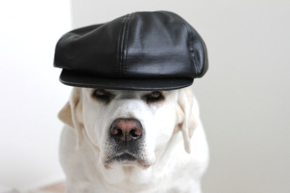 90s club leather hat RESERVED FOR VIVI