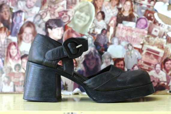 ankle strap mary jane platforms, 90s