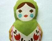 Russian Matryoshka Doll. Green Lavender Sachet
