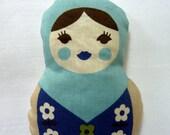 Russian Matryoshka Doll. Light Blue Lavender Sachet