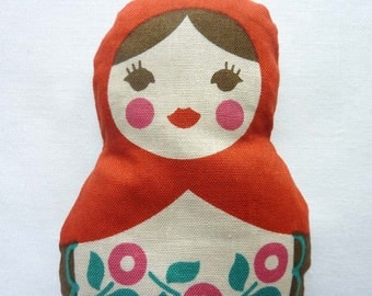 Russian Matryoshka Doll. Red Sachet.