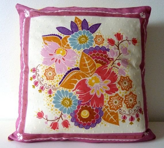 Fruit Juice AMH Square Dance Pillow Cover. 14x14