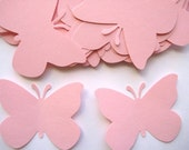 40 Large Light Pink Butterfly punch die cut scrapbooking embellishments E454