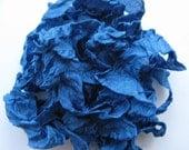 Rayon Ribbon Losang Blue Crinkled Seam Binding  5 yards E1039 SALE