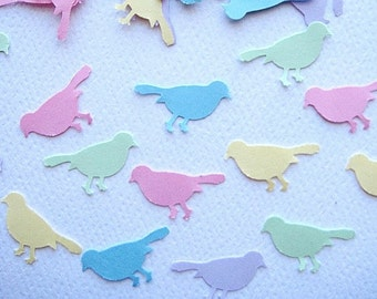 100 Pastel Bird punch die cut embellishments E270