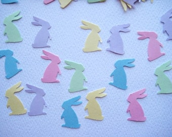 100 Pastel Standing Bunny punch die cut embellishments E272