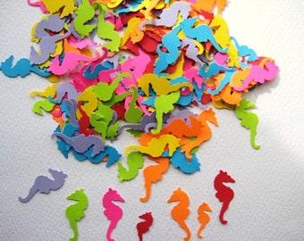 120 Bright Tropical Seahorse embellishments noE302