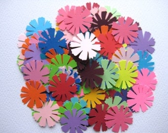 100 Cosmos Flowers punch die cut embellishments E135