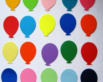 100 Balloon punch die cut embellishments E172
