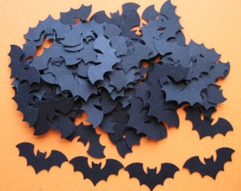 100 Halloween Bat punch die cut embellishments E190