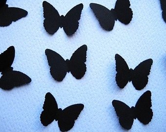 100 Black Butterfly punch die cut embellishments E267