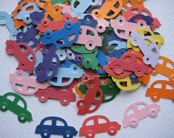 100 Cars punch die cut  embellishments E138