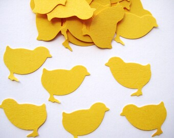 50 Bright Yellow Chicks punch die cut embellishments E441