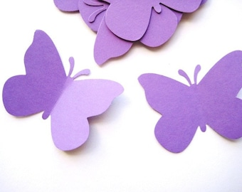 40 Large Purple Butterfly punch die cut embellishments E460