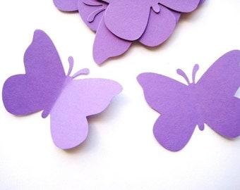 40 Large Purple Butterfly punch die cut embellishments E460