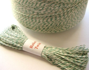 25 yards Green and White Bakers Twine noE466