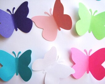 40 Large Princess Butterfly punch die cut embellishments E474