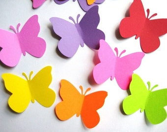 40 Large Bright Butterfly punch die cut scrapbooking embellishments E498