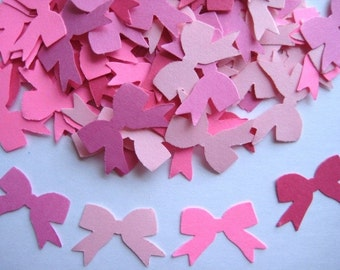 100 Mixed Pink Bow punch die cut embellishments E543
