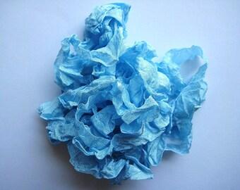 5 yards Baby Blue - Light Blue Crinkled Seam Binding E663