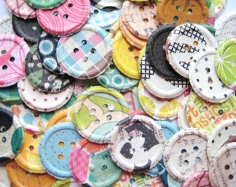 100 Embossed  Buttons punch die cut embellishments  E752