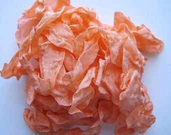 5 yards Ambrosia Orange Crinkled Seam Binding noE928 SALE