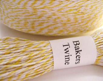 25 yards Yellow and White Bakers Twine E1095