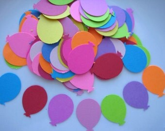 100  Colorful  Balloon punch die cut embellishments E1158
