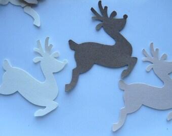21 Kraft Beige Cream Reindeer punch die cut embellishments E1198