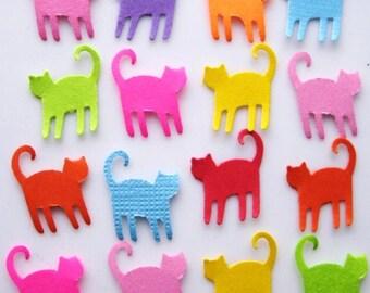 100 Bright Mini Cat punch die cut embellishments E1212