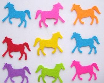 100 Bright Horse punch die cut scrapbooking confetti embellishments E1261