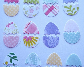 110 Fresh Floral Easter Cracked Eggs punch die cut paper embellishments E1339