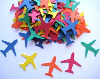 100 Primary Airplanes punch die cut embellishments E1345