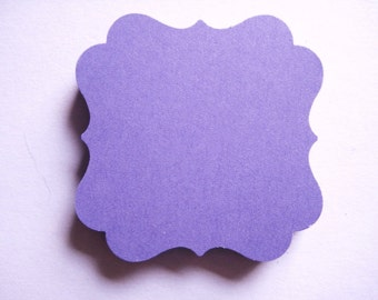 25 Purple Tags journal gift  party favor scrapbooking E1422