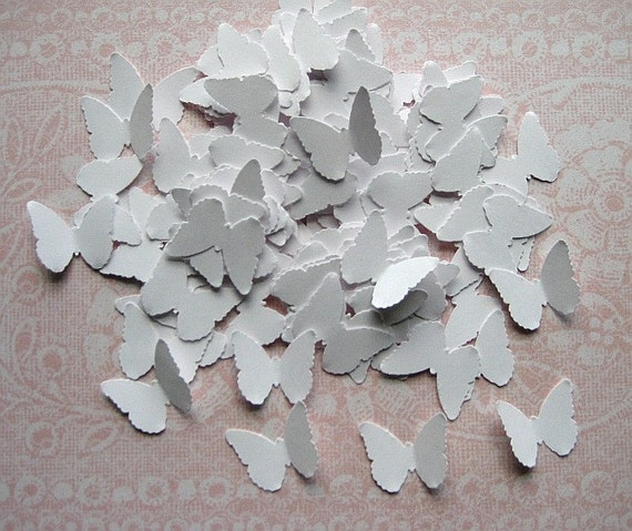 100 Wedding White Classic Butterfly punch die cut embellishments E113