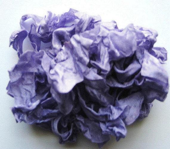 5 yards  Purple Crinkled Seam Binding noE907 SALE