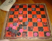 Checker Vintage Game with Board and Checkers SALE Less than 12