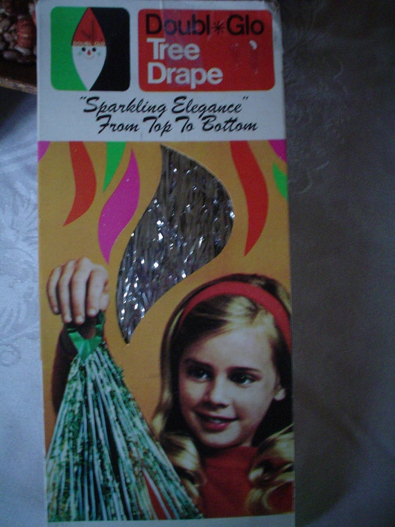 Icicles Vintage Tree Drape Box Unused 300 Stands to cover your 8 foot tree